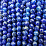 Lapis Lazuli Micro Faceted 3mm 4mm Round