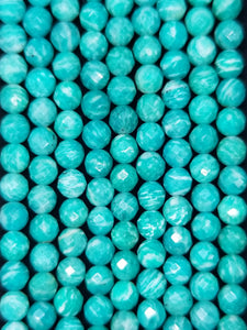 "Russian Amazonite (Round)(Faceted)(16""Strand)"