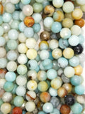 "Black Gold Amazonite (Round)(Faceted)(16""Strand)"
