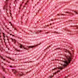 "Pink Tourmaline (Round)(Micro-Faceted)(2mm)(15.5""Strand)"