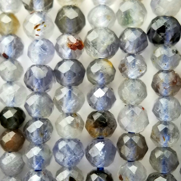 Iolite (Round)(Micro-Faceted)(2.5mm)(15.5