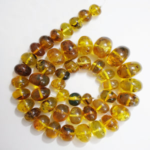 Amber Rondelle Beads