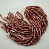 "Thulite (Rondelle)(Smooth)(6mm)(8mm)(16""Strand)"