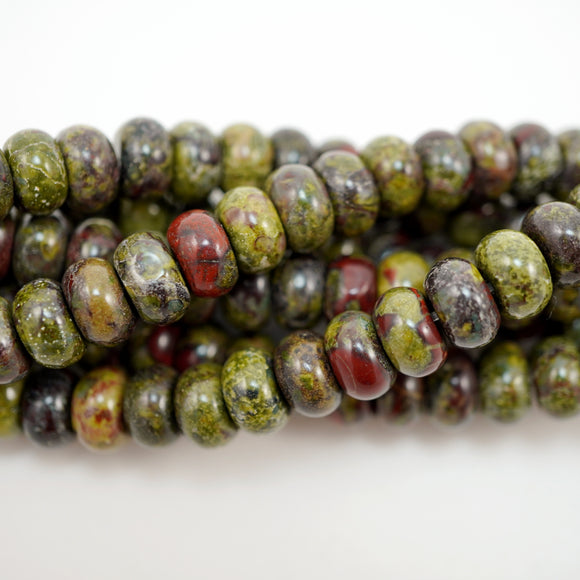 Dragon's Blood Jasper (Rondelle)(Smooth)(6mm)(8mm)(10mm)(16