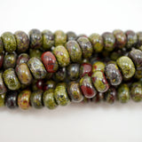 "Dragon's Blood Jasper (Rondelle)(Smooth)(6mm)(8mm)(10mm)(16""Strand)"