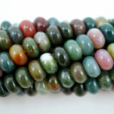 "Fancy Jasper (Rondelle)(Smooth)(6mm)(8mm)(10mm)(16""Strand)"