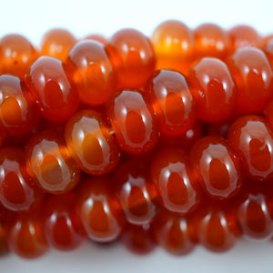 "Carnelian (Rondelle)(Smooth)(6mm)(8mm)(16""Strand)"