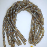 "Grey Chalcedony (Rondelle)(Smooth)(6mm)(8mm)(10mm)(16""Strand)"