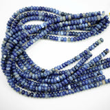 "Sodalite (Rondelle)(Smooth)(6mm)(8mm)(10mm)(16""Strand)"