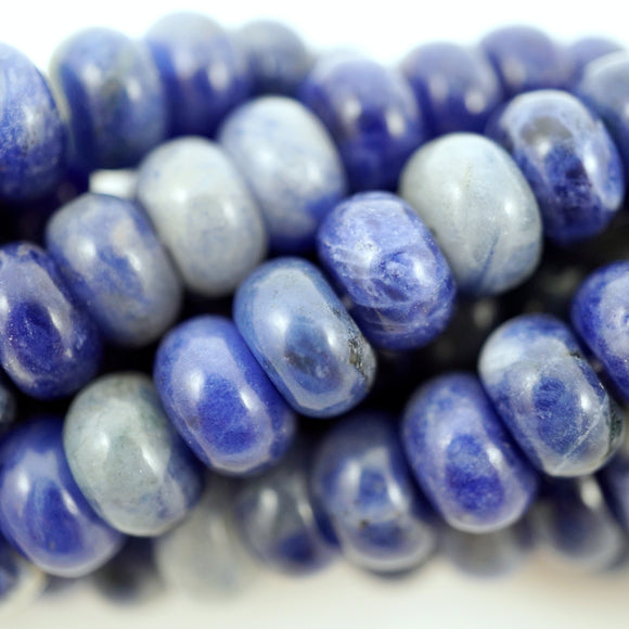 Sodalite (Rondelle)(Smooth)(6mm)(8mm)(10mm)(16