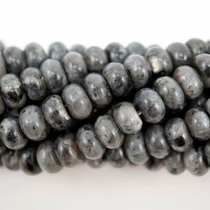 "Larvikite (Rondelle)(Smooth)(6mm)(8mm)(10mm)(16""Strand)"
