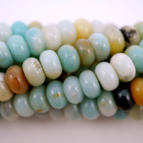 Black Gold Amazonite (Rondelle)(Smooth)(6mm)(8mm)(10mm)
