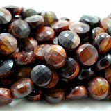 "Red Tiger Eye (Coin)(Micro-Faceted)(6×4mm)(15""Strand)"