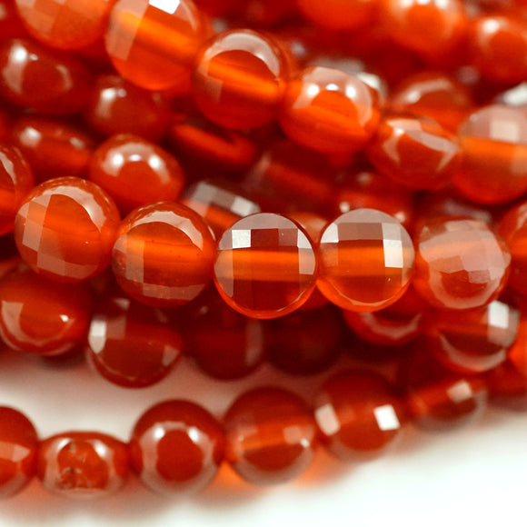 Carnelian (Coin)(Micro-Faceted)(4×3mm)(15.5