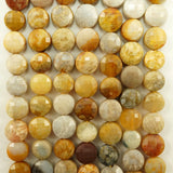 "Fossil Coral (Coin)(Micro-Faceted)(6×4mm)(15""Strand)"