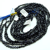 "Blue Goldstone (Coin)(Micro-Faceted)(6×4mm)(15""Strand)"