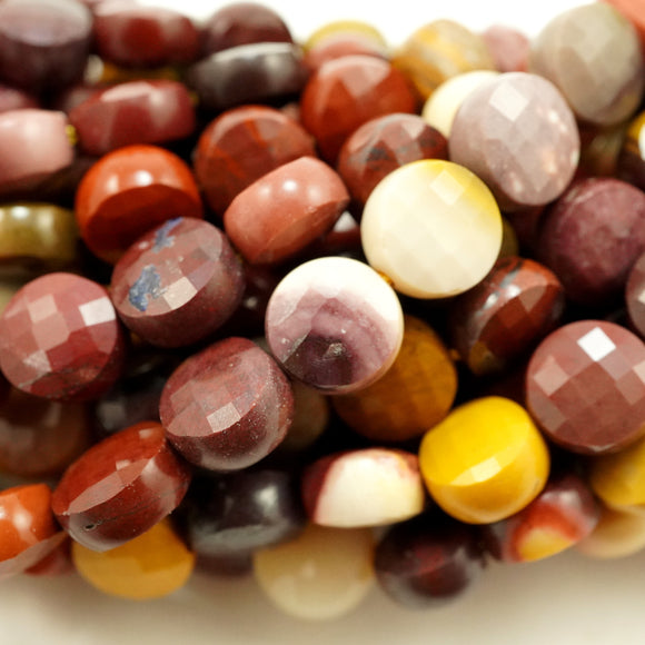 Mookaite (Coin)(Micro-Faceted)(7×4mm)(15