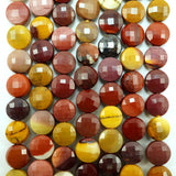 "Mookaite (Coin)(Micro-Faceted)(7×4mm)(15""Strand)"