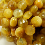 "Golden Tiger Eye (Coin)(Micro-Faceted)(6×4mm)(15.5""Strand)"
