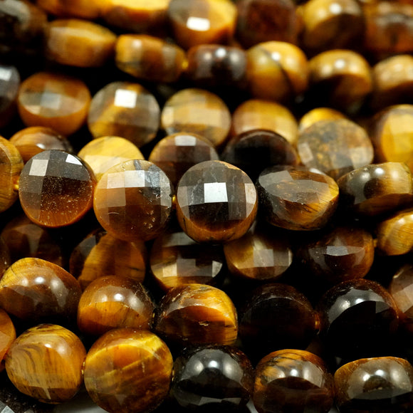 Tiger Eye (Coin)(Micro-Faceted)(6×4mm)(15