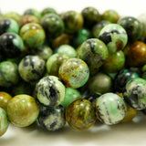 "Variscite (Round)(Smooth)(6mm)(8mm)(10mm)(16""Strand)"