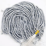"Hematite (Silver)(Electroplated)(Round)(Smooth)(2mm)(4mm)(6mm)(8mm)(15.50""Strand)"