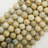 "White African Opal (Round)(Smooth)(6mm)(8mm)(10mm)(16""Strand)"