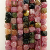 "Watermelon Tourmaline (Cube)(Micro-Faceted)(4mm)(15""Strand)"