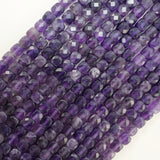 "Amethyst (Cube)(Micro-Faceted)(4mm)(15""Strand)"