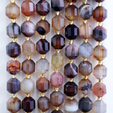 "Botswana Agate (Barrel)(Faceted)(8x7mm)(16""Strand)"