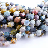 "Ocean Jasper (Barrel)(Faceted)(8x7mm)(16""Strand)"