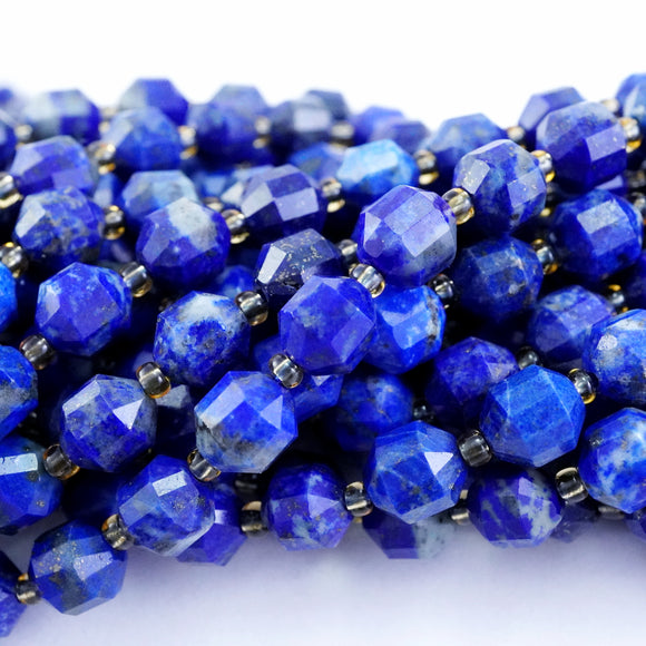 Lapis Lazuli (Barrel)(Faceted)(8x7mm)(16