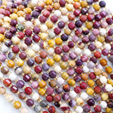 "Mookaite (Barrel)(Faceted)(6x5mm)(16""Strand)"