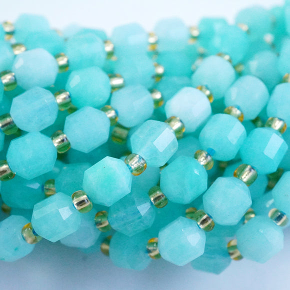 Amazonite (Barrel)(Faceted)(6x5mm)(16