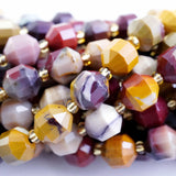 "Mookaite (Barrel)(Faceted)(8x7mm)(16""Strand)"