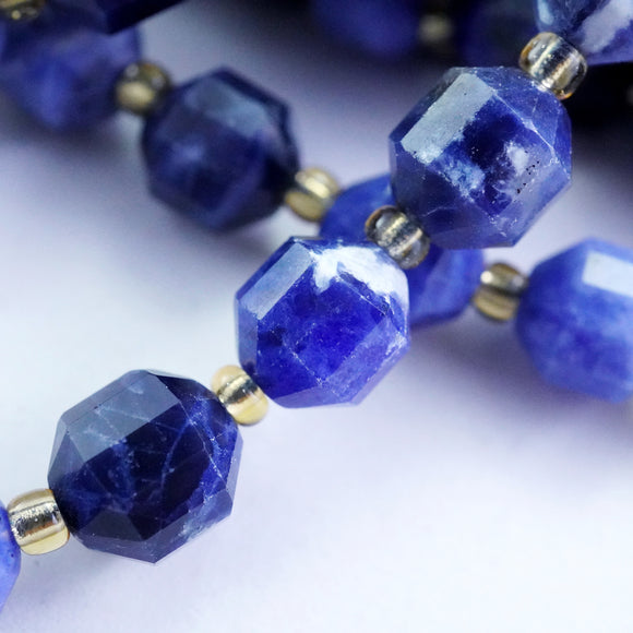 Sodalite (Barrel)(Faceted)(8x7mm)(16