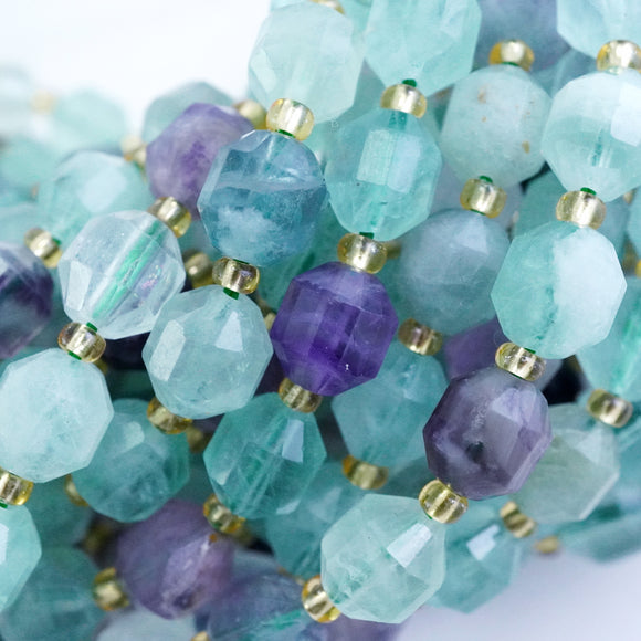 Fluorite (Barrel)(Faceted)(8x7mm)(16