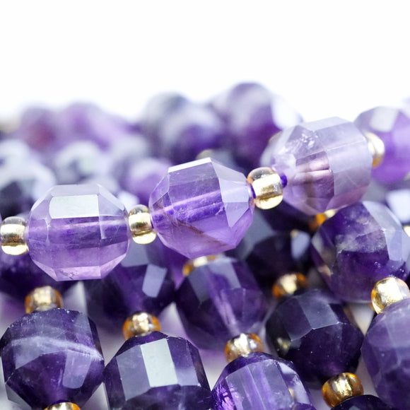 Amethyst (Barrel)(Faceted)(8x7mm)(16