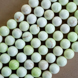 "Lemon Chrysoprase (Round)(Smooth)(6mm)(8mm)(10mm)(16""Strand)"