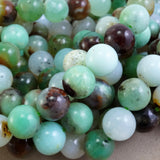"Chrysoprase (Round)(Smooth)(9mm)(12mm)(16""Strand)"