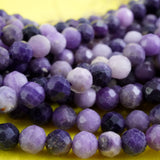 "Sugilite (Round)(Micro-Faceted)(4mm)(15""Strand)"