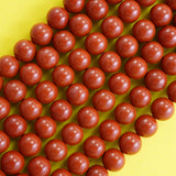 "Red Jasper (Round)(Smooth)(6mm)(8mm)(10mm)(16""Strand)"