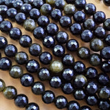 "Golden Obsidian (Round)(Faceted)(4mm)(6mm)(8mm)(10mm)(16""Strand)"