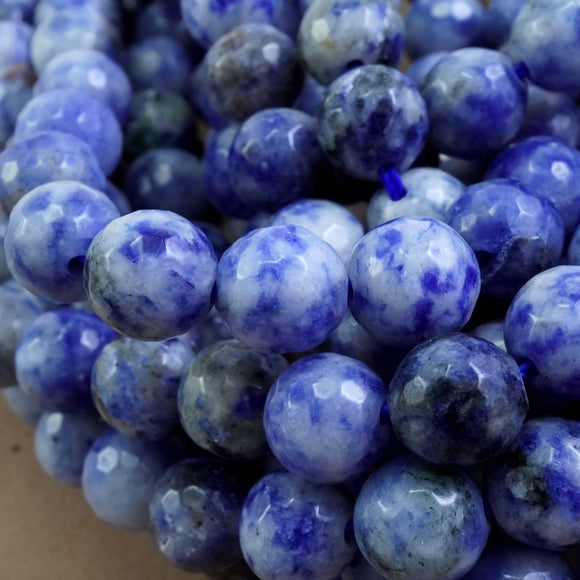 Light Sodalite (Round)(Faceted)(4mm)(6mm)(8mm)(10mm)(16