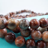 "Red Lace Agate (Round)(Smooth)(6mm)(8mm)(10mm)(16""Strand)"