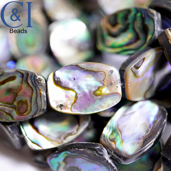 Abalone (Oval)(Flat)(12x18mm)(16