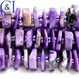 "Charoite (Heishe)(Polished)(Raw)(16""Strand)(11mm)"