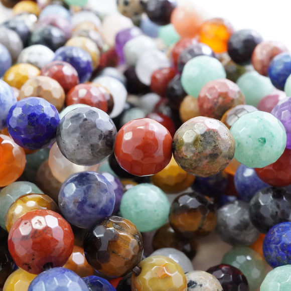 Mix Gem Stones (Round)(Faceted)(4mm)(6mm)(8mm)(10mm)(16