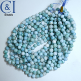 "Larimar (Round)(Smooth)(10mm)(16""Strand)"
