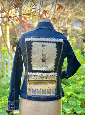 Be As Sweet As Honey Denim Jacket